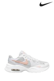 Nike White/Peach Air Max Fusion Trainers