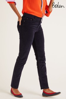 Boden Blue Cord Slim Straight Jeans