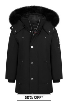 Kids Black Parka