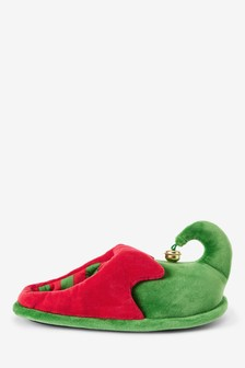 Red/Green Eflf Mule Slippers (Older)