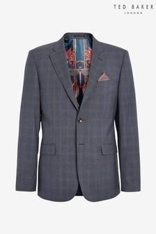 Ted Baker Blue Rivdebj Fashion Fit Debonair Check Suit: Jacket