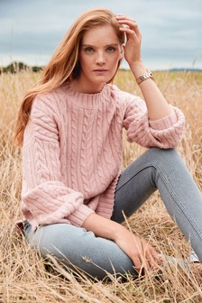 Blush Cable Tunic