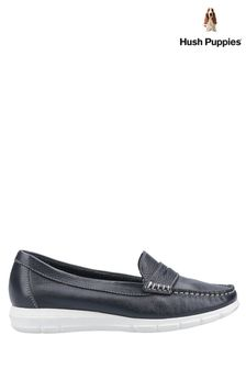 Hush Puppies Blue Paige Slip-On Loafers