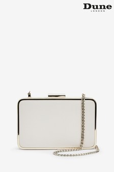 Dune London Beaut EcruLeather Slim Clutch Bag
