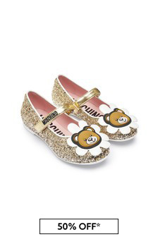 Girls Gold Leather Shoes