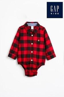 Gap Baby Buffalo Check Shirt Bodysuit