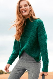 Green Cable Blocked Jumper