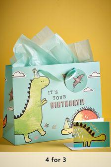 Dino Gift Bag Set