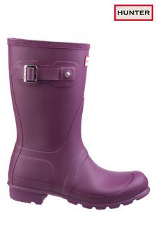 Hunter Purple Original Short Wellington Boots