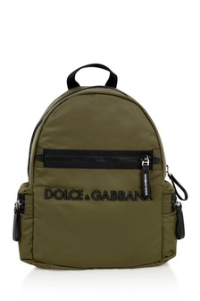 Boys Khaki Logo Backpack