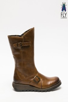 Fly London Camel Mid Calf Boots
