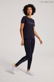 Tommy Hilfiger Blue Logo Leggings