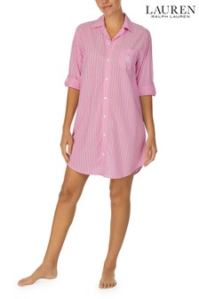 Lauren Ralph Lauren Pink 3/4 Sleeve His Shirt Sleepshirt