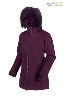 Regatta Purple Myla Waterproof Jacket