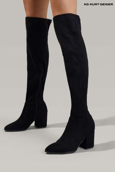 KG Kurt Geiger Black Tell Boots