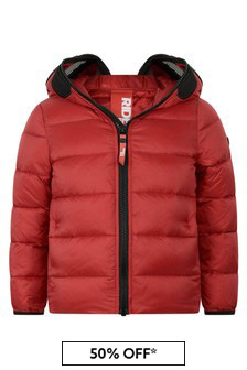 Ai Riders On The Storm Boys Red Down Padded Jacket With Lenses