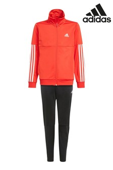 adidas 2 Stripe Red Team Tracksuit