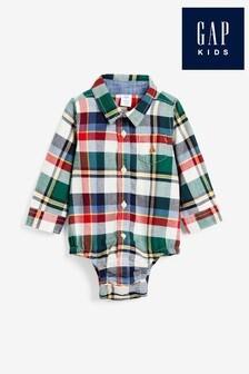 Gap Baby Checked Shirt Bodysuit