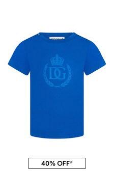 Dolce & Gabbana Baby Boys Blue Cotton T-Shirt