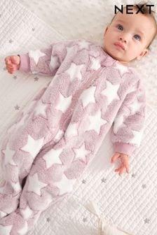 Pink Fleece Sleepsuit (0mths-3yrs)