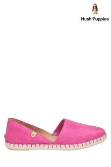 Hush Puppies Pink Rosie Espadrille Slip-On Shoes