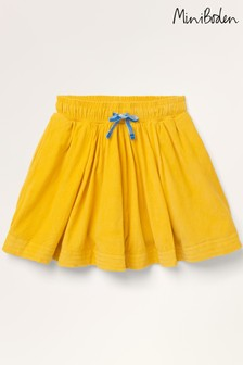 Mini Boden Yellow Woven Twirly Skirt