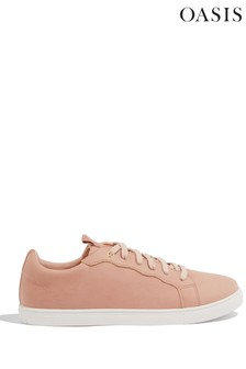 Oasis Natural Scallop Trim Trainers