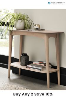 Dansk Scandi Console Table with Shelf by Bentley Designs