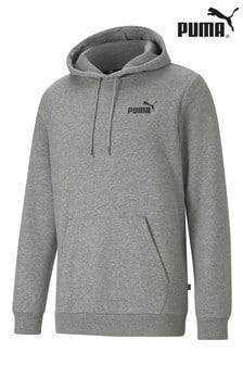 Puma Grey Essentials Logo Hoodie
