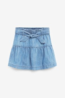 Denim Mid Blue Tie Belt Skirt (3mths-10yrs)