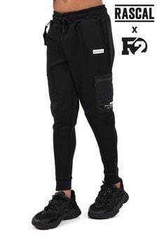 Rascal Boys Black Tech Utility Track Pants