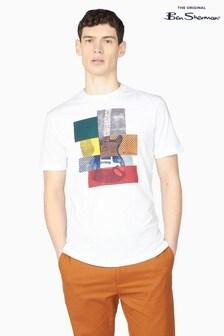 Ben Sherman White Cropped Guitar T-Shirt