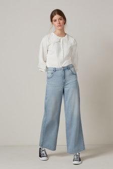 Bleach Super Soft TENCEL™ Blend Wide Leg Jeans