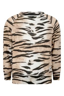 Girls Tiger Stripe Organic Cotton Sweater