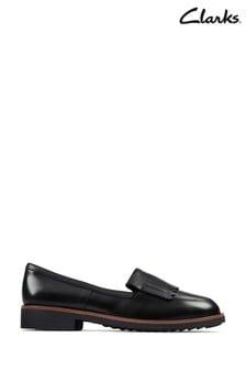 Clarks Black Leather Griffin Kilt Shoes