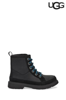 UGG® Black Robley Kids Lace-Up Boots