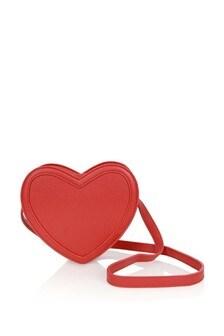 Girls Red Heart Shoulder Bag