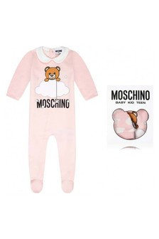 Girls Pink Cotton Babygrow & Hat Gift Set