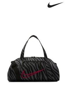Nike Black Zebra Print Club Duffle Bag
