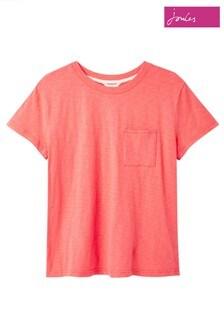Joules Pink Soft Pocket T-Shirt