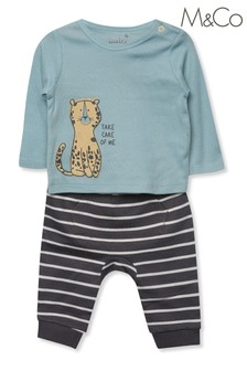 M&Co Kids Teal Take Care Of Me Sweatshirt And Joggers Set