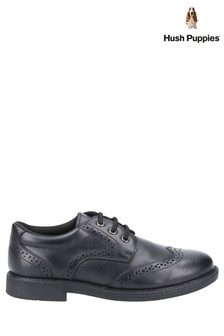 Hush Puppies Black Harry Lace-Up Shoes