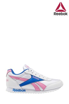 Reebok Silver/Pink Royal Junior And Youth Trainers