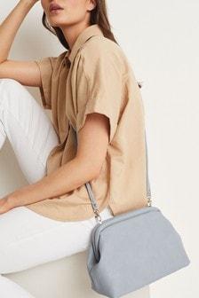 Blue Boxy Clutch Bag