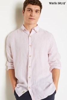 White Stuff Pink Parralel Stripe Linen Shirt