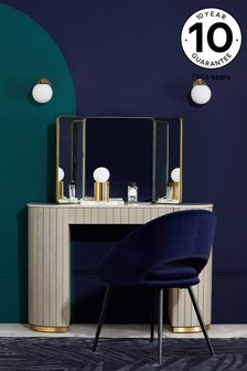 Brass Effect Brass Effect Dressing Table Mirror