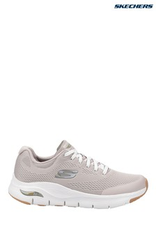 Skechers® Grey Arch Fit Lace-Up Sports Trainers