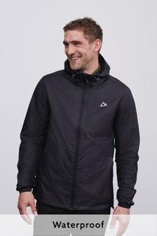 Black Waterproof Packable Jacket With Bag