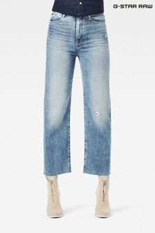 G-Star Tedie Ultra High Straight Fit Ankle Light Wash Jeans