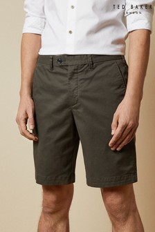 Ted Baker Green Buenose Cotton Chino Shorts